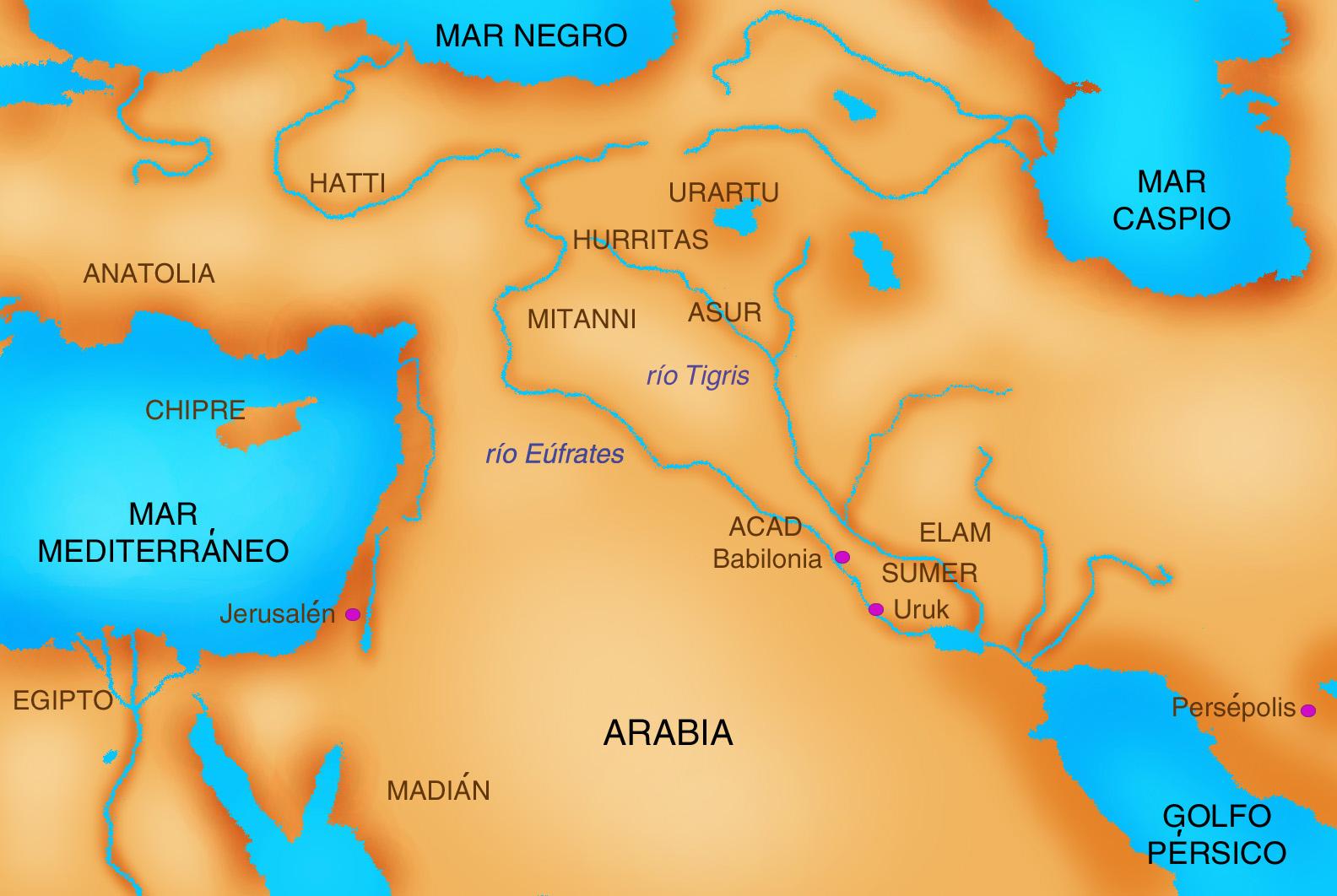 Kish Mesopotamia Map