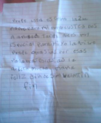 Carta de Martha de quinto matutino