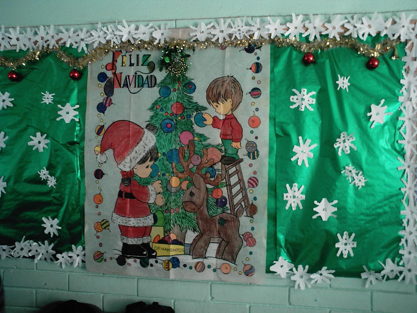 Nos invade la navidad 5to y 6to grado for Mural navideno